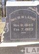 "Rev. William Washington ""Wash"" LaRue"