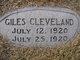 Profile photo:  Giles Cleveland Threet