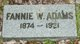 Fannie <I>Weaver</I> Adams