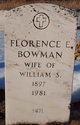 Florence E <I>Sagar</I> Bowman