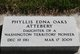 Phyllis Edna <I>Oaks</I> Attebery