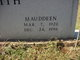 Mauddeen <I>Booth</I> Smith