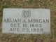 Profile photo:  Abijah Alfred Morgan