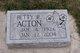 Betty <I>Dalton</I> Acton