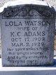 Lola <I>Watson</I> Adams