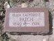 Eliza Catherine <I>Smith</I> Patch