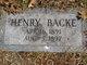 Henry Backe