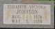 "Elizabeth ""Lizzie"" <I>Roberson</I> Johnson"