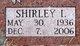 Profile photo:  Shirley Irene <I>Holman</I> Boles