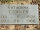 "Profile photo:  Katherina Wilhelmina ""Katie"" <I>Warnick</I> Tammen"