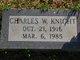 Profile photo:  Charles W Knight