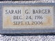 Sarah Louise <I>Green</I> Barger