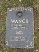 Alice M. <I>Cornell</I> Wanck