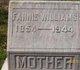 Mary Fannie <I>Kyle</I> Williams