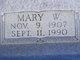 Mary W Bradshaw
