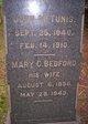 Mary C. <I>Bedford</I> Tunis