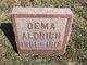 "Profile photo:  Mary Lodema ""Dema"" <I>Bement</I> Aldrich"