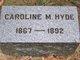 Profile photo:  Caroline M Hyde