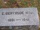 Profile photo:  E Gertrude Hyde