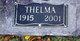 Thelma Marie <I>Watts</I> Sweeten