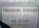 Profile photo:  Theodore Howard