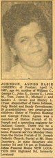 Profile photo:  Agnes Elsie <I>Green</I> Johnson
