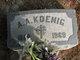Profile photo:  A. A. Koenig