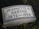 Jeanette <I>Maultby</I> Hartho