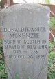 Donald/Daniel McKenzie