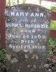 Mary Ann <I>Grigsby</I> McKenzie