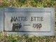 Mattie Ettie <I>Daniel</I> Barber