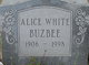 Profile photo:  Alice <I>White</I> Buzbee