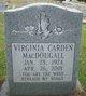 Profile photo:  Virginia <I>MacDougall</I> Carden