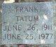 Profile photo:  Frank Tatum
