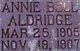 Profile photo:  Annie Bell Aldridge