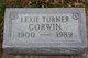"""Lexie Ina """"Toots"""" <I>Turner</I> Corwin"""