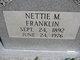 Profile photo:  Nettie Viola <I>Matlock</I> Franklin