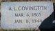 Profile photo:  A. L. Covington