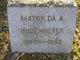 Profile photo:  Mathilda A. Buckwalter