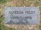 Profile photo:  Alfreda Feldt