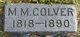 Mary M <I>Lane</I> Colver