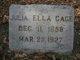Julia Ella <I>Reed</I> Cage