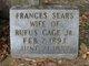 Frances <I>Sears</I> Cage