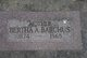 Profile photo:  Bertha A <I>Senyoks</I> Barchus