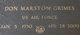 Don Marston Grimes