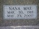 Nana Mae <I>Grimes</I> Harvell