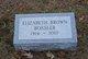Elizabeth <I>Brown</I> Bossler