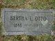 Bertha L Otto