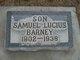 Profile photo:  Samuel Lucius Barney