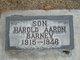 Profile photo:  Harold Aaron Barney